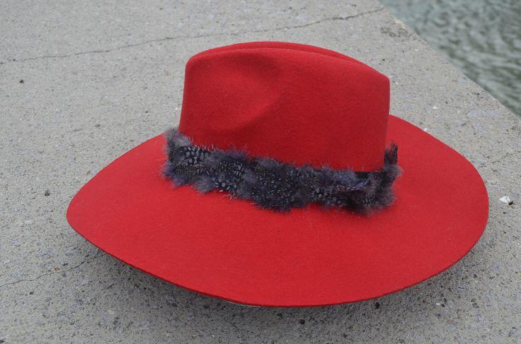 """Fedora hat """"Red Magic Dream"""""""