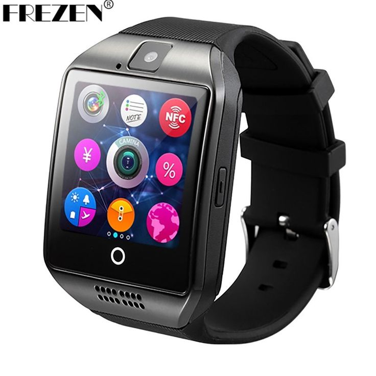FREZEN Bluetooth Smart Watch Q18 SmartWatch With Camera MP3 Smartwatch Support SIM TF Card For Android Phone PK DZ09 A1 GT08 U8 //Price: $20.61//     #electonics