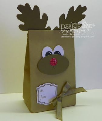 Debbie's Designs: 12 Days of Christmas Treat Holders-Day 4!   Cafe Treat Bags