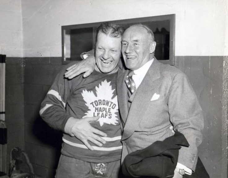 Turk Broda and Conn Smythe | Toronto Maple Leafs | NHL | Hockey
