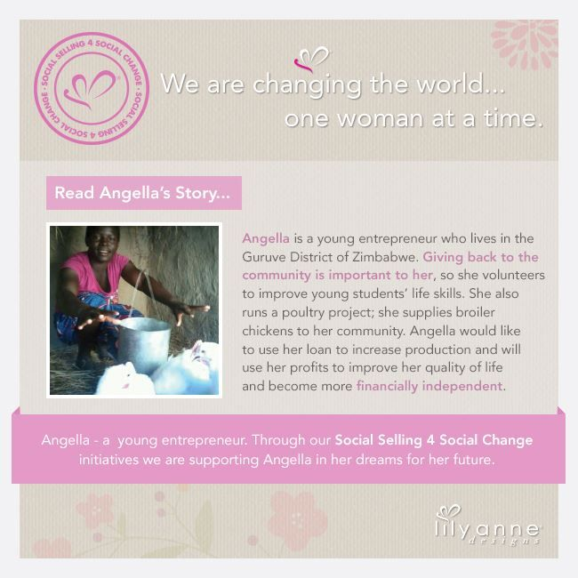 We are changing the world... one woman at a time heart emoticon  We believe that when women are empowered, so too are families; communities; the world. When you partner with Lily Anne Designs® you are empowering another woman in a developing country.  Read Angella's story...  #LilyAnneDesigns #SocialSelling #ChangingTheWorld