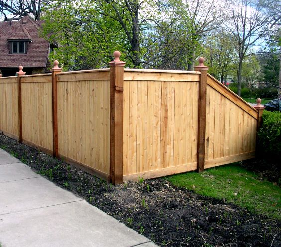 Best 25 fence design ideas on pinterest fencing Wood garden fence designs