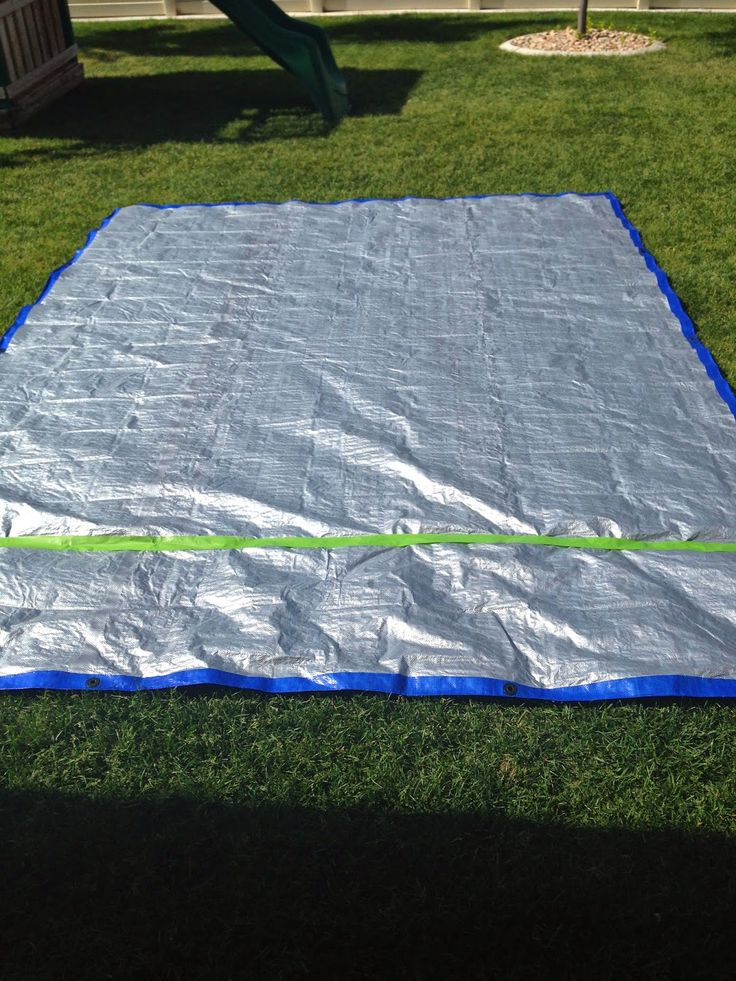 All you need for this amazing giant twister game is, a little patience and..    A huge tarp        Some tape  to find even spaces for ...