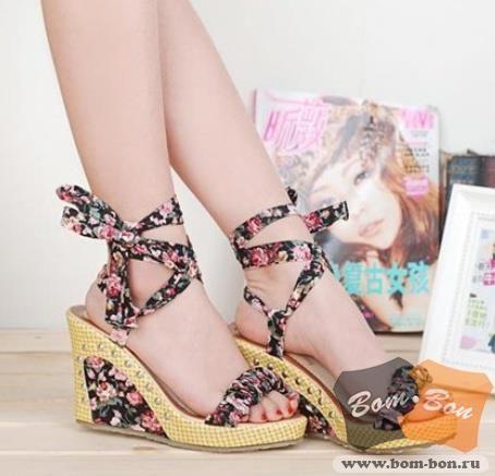 Босоножки туфли на танкетке интернет магазин