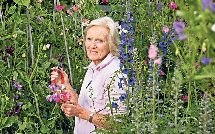 Great British Bake Off presenter and baker Mary Berry shares her tips for how   you can garden your way to an active and happy old age