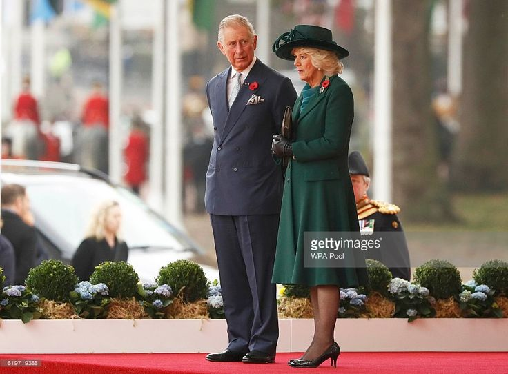 Prince Charles, Prince of Wales and Camilla, Duchess of Cornwall attend a ceremonial welcome for Colombia's President Juan Manuel Santos and his wife Maria Clemencia de Santos at Horse Guards Parade on November 1, 2016 in London, England. The President is on a state visit to Britain.