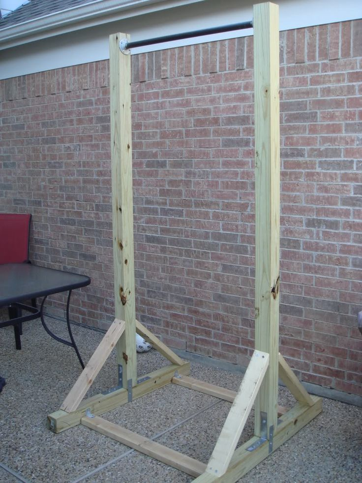 how to build a pull up bar out of wood - Google Search                                                                                                                                                                                 More