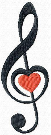 Clef free machine embroidery design. Machine embroidery design. www.embroideres.com