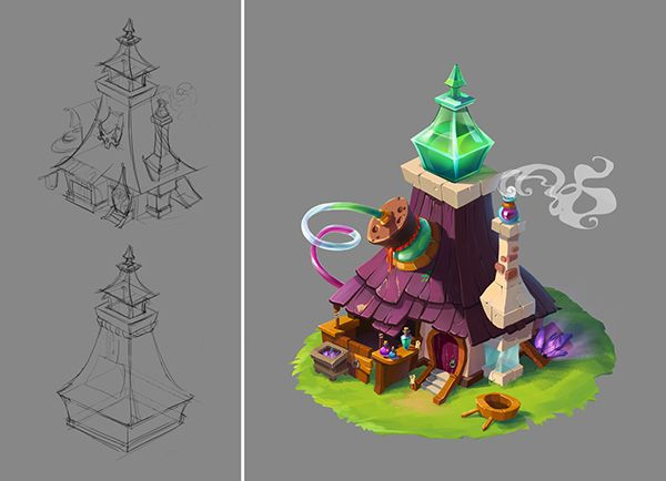 "Test task ""Alchemist's house"" on Behance"