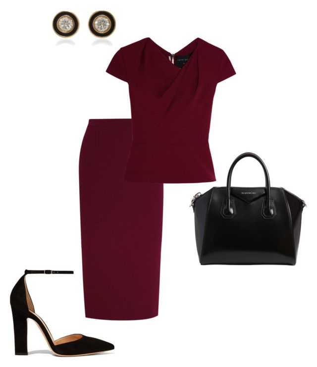 """Work"" by cgraham1 on Polyvore featuring Roland Mouret, Gianvito Rossi, Givenchy and Sydney Evan"