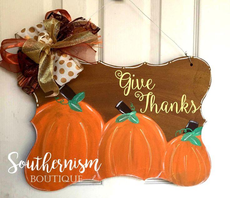 Wooden Door Hanger, Pumpkin Door Hanger, Fall Wooden Door hanger, Halloween Wooden Door Hanger, Monogram Wooden door hanger,pumpkin monogram by SouthernismBoutique on Etsy https://www.etsy.com/listing/474479840/wooden-door-hanger-pumpkin-door-hanger