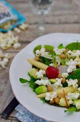 Winterlicher Popcorn-Salat