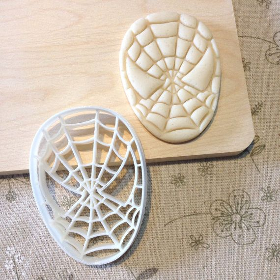 Spiderman Cookie Cutter - Spider Man Fondant Icing Cake Cupcake Topper Iced Sugar Cookies Boys Birthday Party Favors Comic Con Superheros