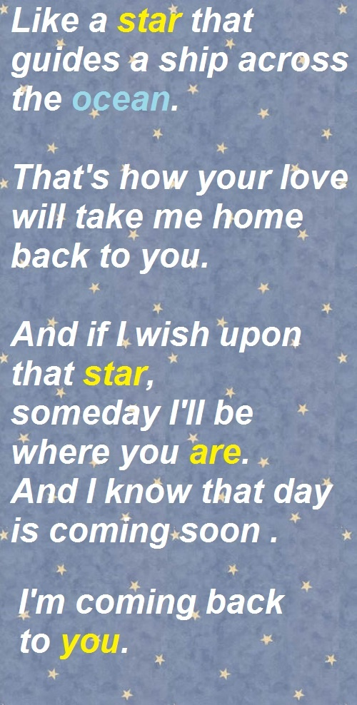 Bryan Adams | Back to You  I love this song so much. The piano solo is gorgeous and the lyrics are wonderful.