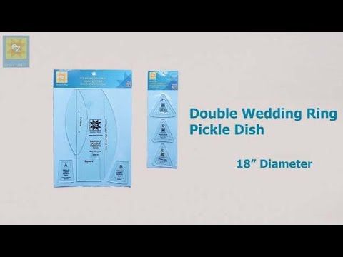 How to use the EZ Quilting Double Wedding Ring Pickle Dish template with...