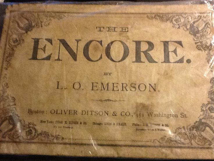 ENCORE Song Book from the 1800's
