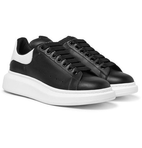 e6871341fae8 ALEXANDER MCQUEEN Exaggerated-Sole Leather Sneakers