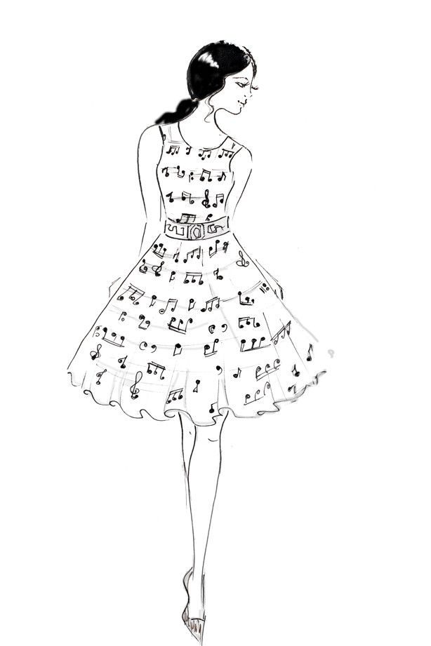 13 best images about dress sketches on pinterest