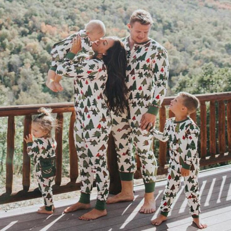 Christmas Clothing Family Pajamas Set Mother Daughter Father Son Clothes Family Clothing Sets Parent-Child Set Family Style SM37