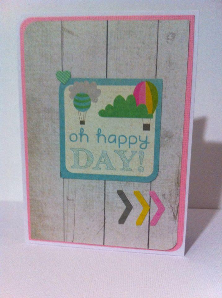 Handmade card made using Kaisercraft's Confetti collection