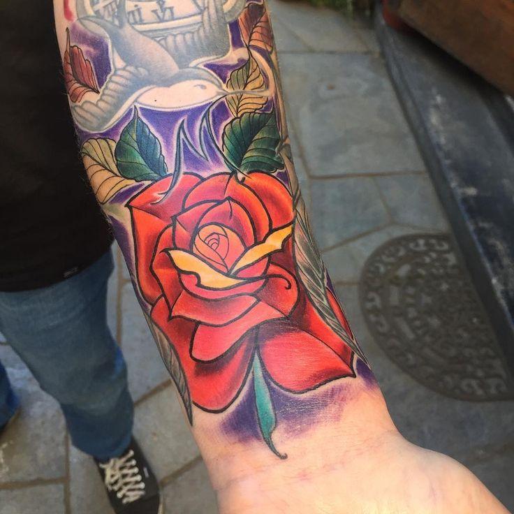 2° sección de tatuaje homenaje a mi abuela maría, faltan varias secciones para la manga completa excelente trabajo Cristian Diez Eudemoni House Temuco muchas gracias....