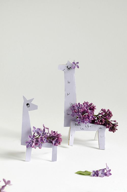 Nature Craft | Make Lilac Llamas with printable template | willowday