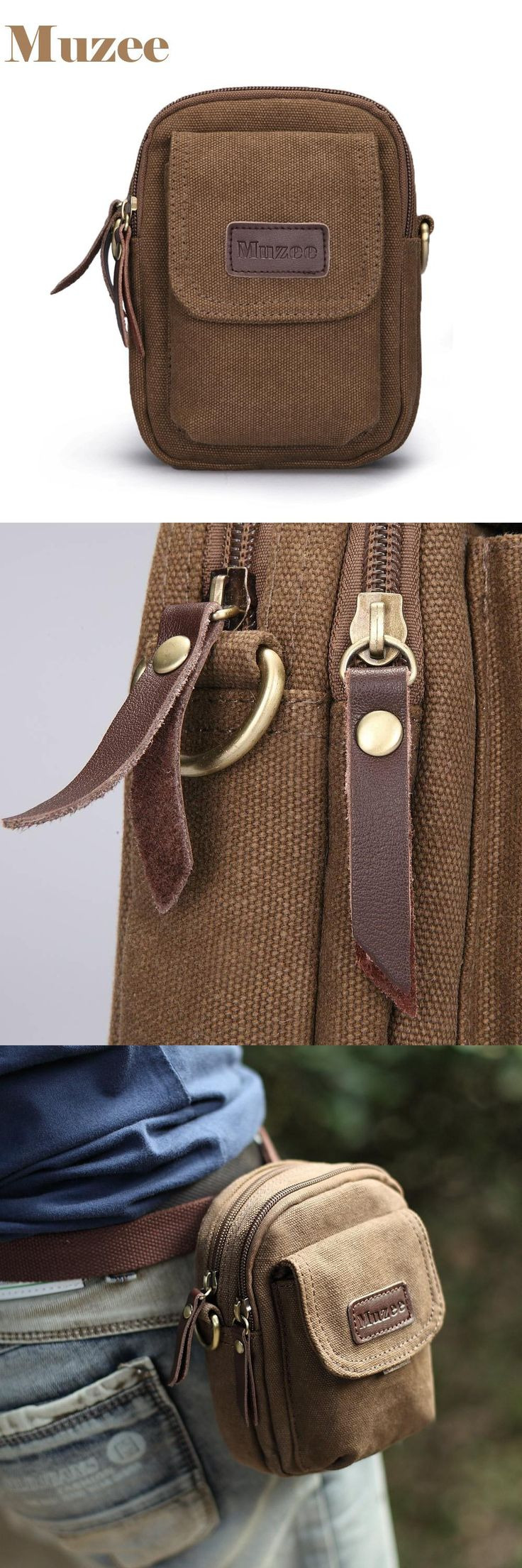 [Visit to Buy] Free shipping! high quality canvas waist packs vintage small bag fanny pack belt wallets single bags,muzee brand #Advertisement