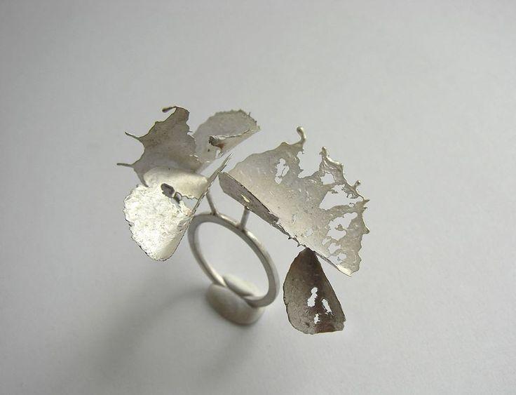 ANDRA LUPU-RO- crushed - ring - 925 silver