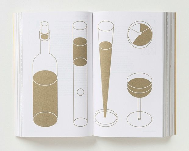 George Hardie poured wine into three specially designed glasses, which are each full with golden ratio proportions - the ratio of wine to emptiness is 1.618.