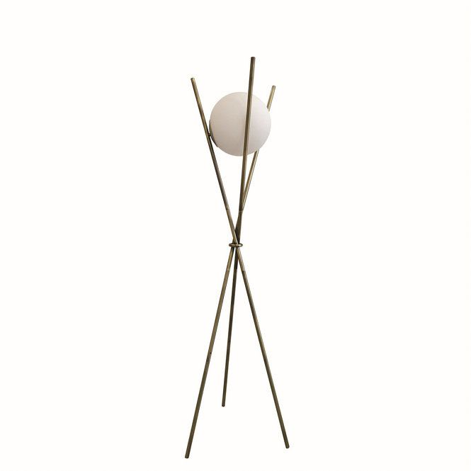 Balancing Ball Tripod Floor Lamp White And Gold Tripod Floor Lamps Floor Lamp Tripod Floor