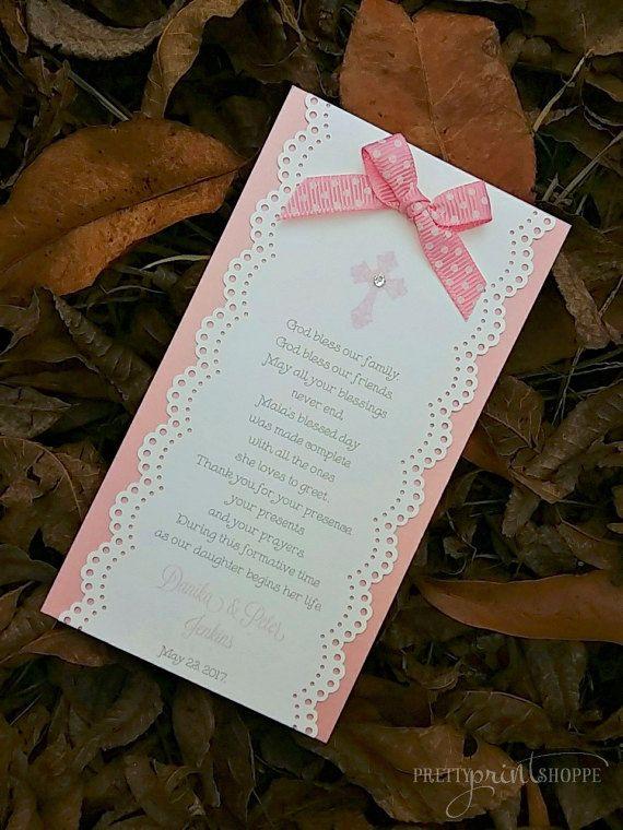 Praying Cards for Baptism Baptism favors by PrettyPrintShoppe
