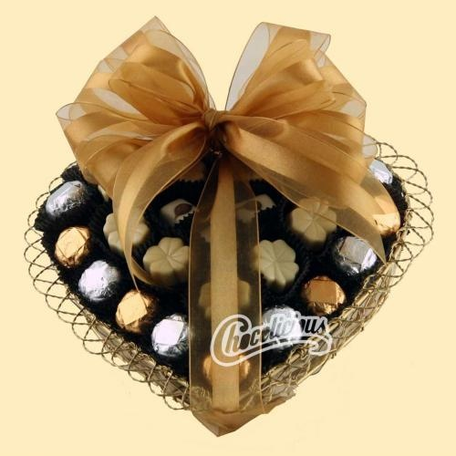 Chocolicious Heart Wire Chocolate Gift Basket