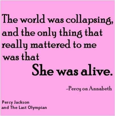 Percy & Annabeth-Percy Jackson and the Last Olympian