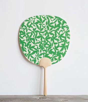 Kyoto style fans - woodblock print uchiwa