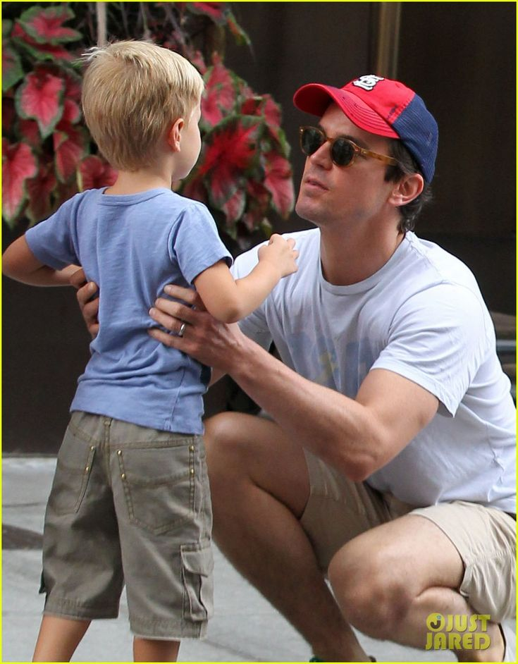 Matt Bomer & son. It is so not fair when gorgeous men are gay and amazing with children.