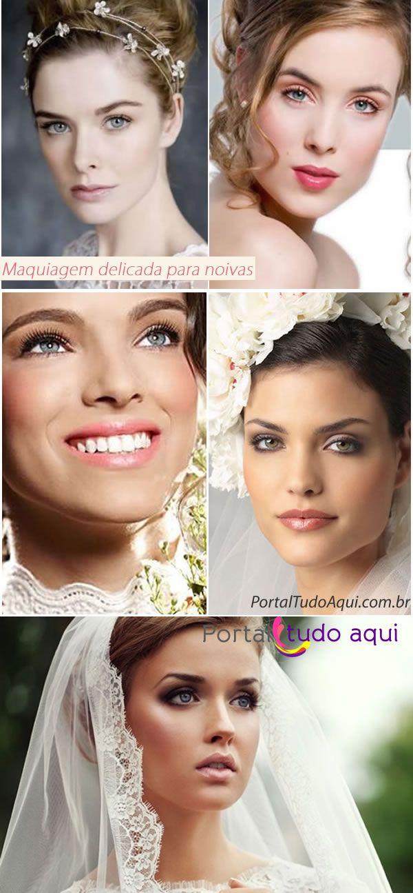 Maquiagem delicada para noivas