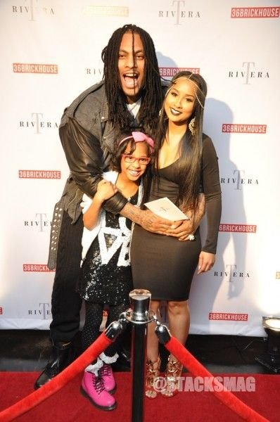 Sweet family: husband and wife: Waka Flocka Flame and Tammy Rivera with their daughter Charlie