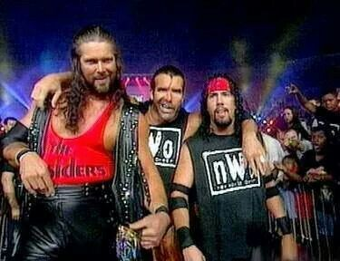 Kevin Nash Scott Hall and  Syxx-Pac X-Pac (we are New World Order!)