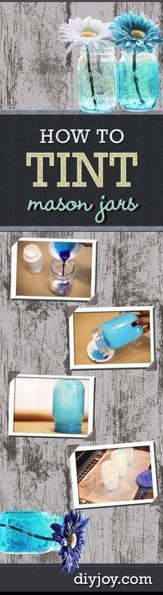 Easy DIY Ideas   How To Tint Mason Jars   Mason Jar Crafts and DIY Projects by DIY JOY