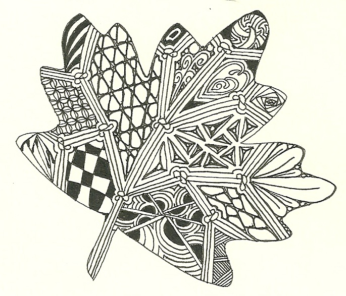 Zentangle Leaf Zentangle Pinterest Leaves And Zentangle