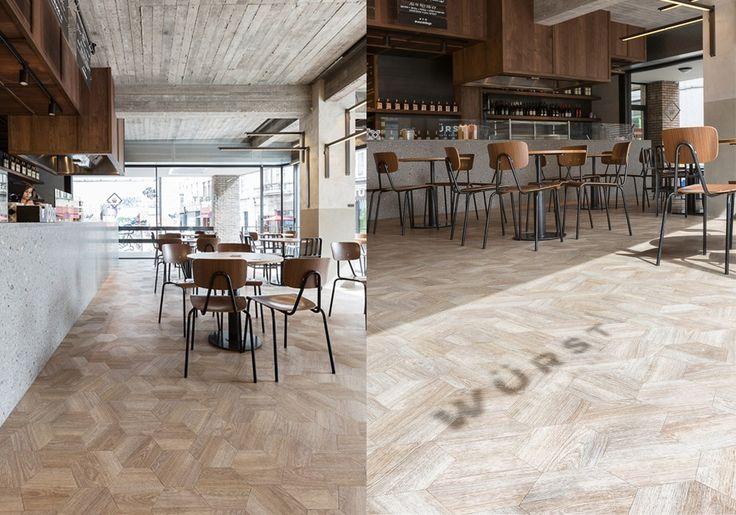 Moduleo (Projectreferentie) - Vloer als blikvanger in nieuwe Gentse WÜRST - architectenweb.nl