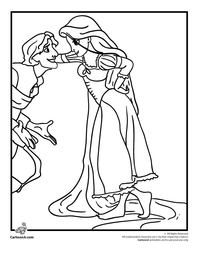 Young Rapunzel Coloring Pages 1055 best Coloring Pag...