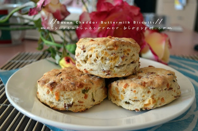 Bacon Cheddar Buttermilk Biscuits | Bread and Biscuits | Pinterest