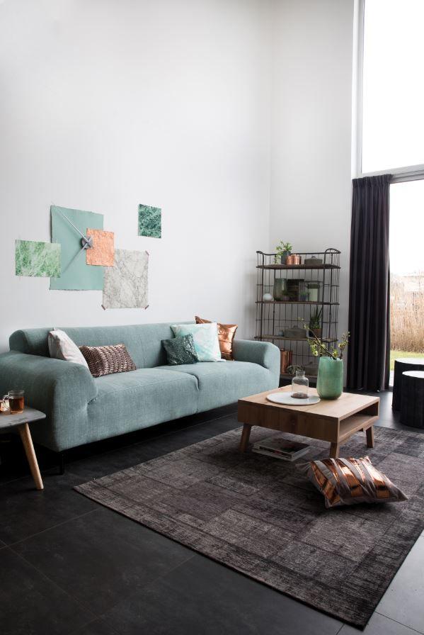 Koper interieur | 3-Zitsbank Cerrito | Trendhopper | #Eijerkamp #kopertrend