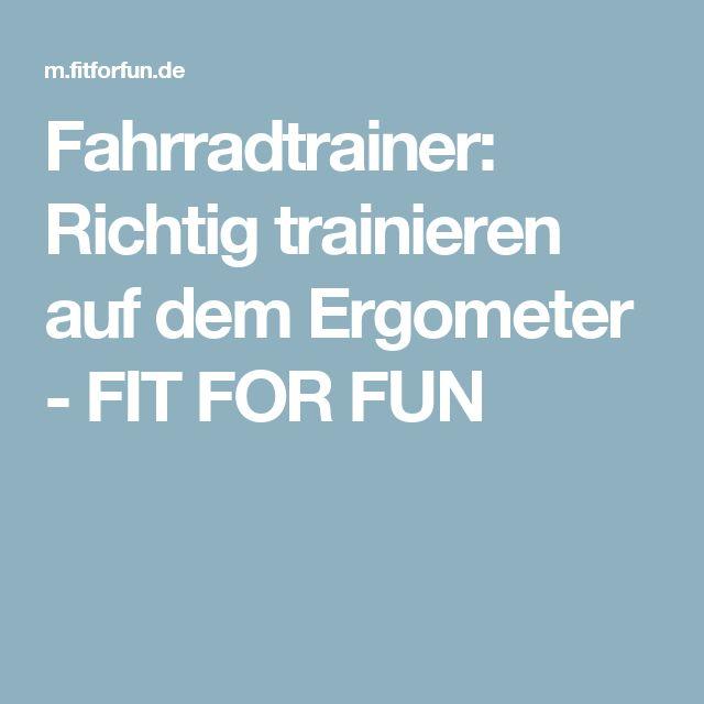 Fahrradtrainer: Richtig trainieren auf dem Ergometer - FIT FOR FUN