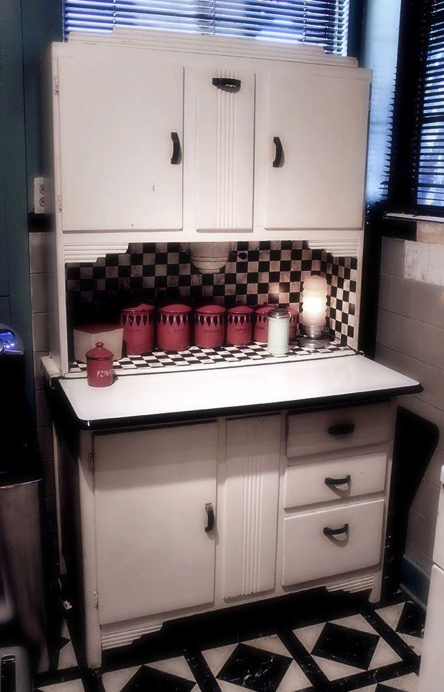 1920u0027s/30u0027s Original Art Deco Vintage Kitchen Hoosier Cabinet/Hutch |  Vintage Kitchen | Pinterest | Vintage Kitchen, Hoosier Cabinet And Kitchen