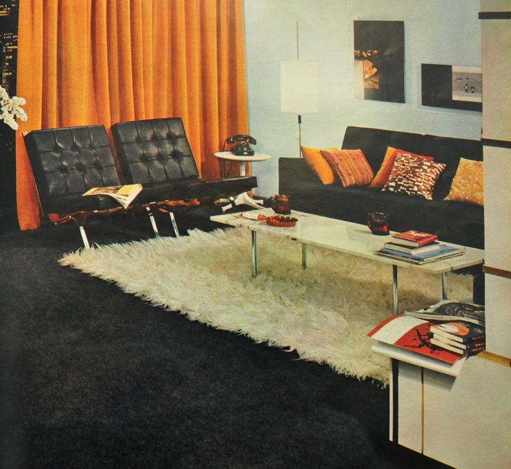 1960's interior design. www.roomsofart.com