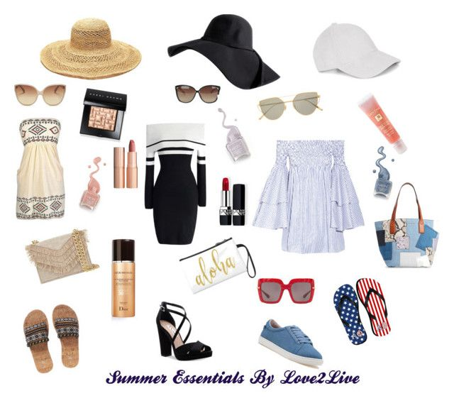 """Summer Essentials By Love2Live"" by love2live-dk on Polyvore featuring Caroline Constas, Chicwish, J/Slides, Nina, Le Amonie, Mar y Sol, Dolce&Gabbana, Linda Farrow, Gentle Monster and Bobbi Brown Cosmetics"