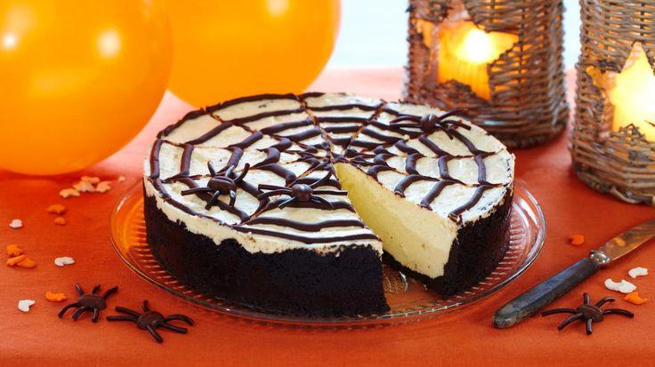 Oppskrift på Skremmende god ostekake til Halloween