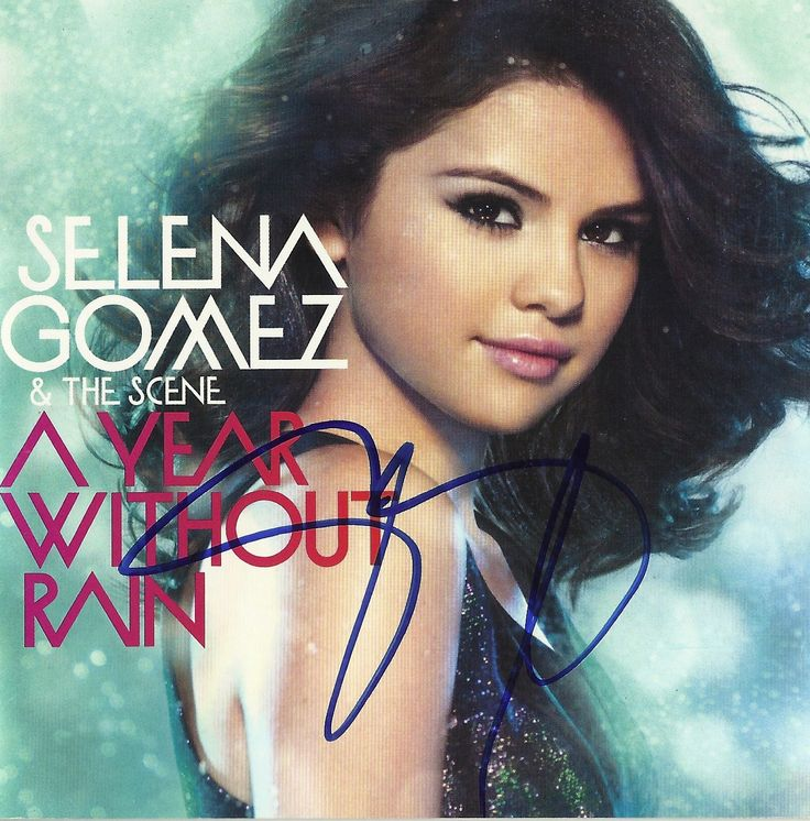 My Selena Gomez A Year Without Rain signed CD
